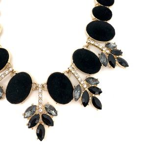 INC International Concepts Jewelry - INC Black Statement Bib Cocktail Necklace NEW